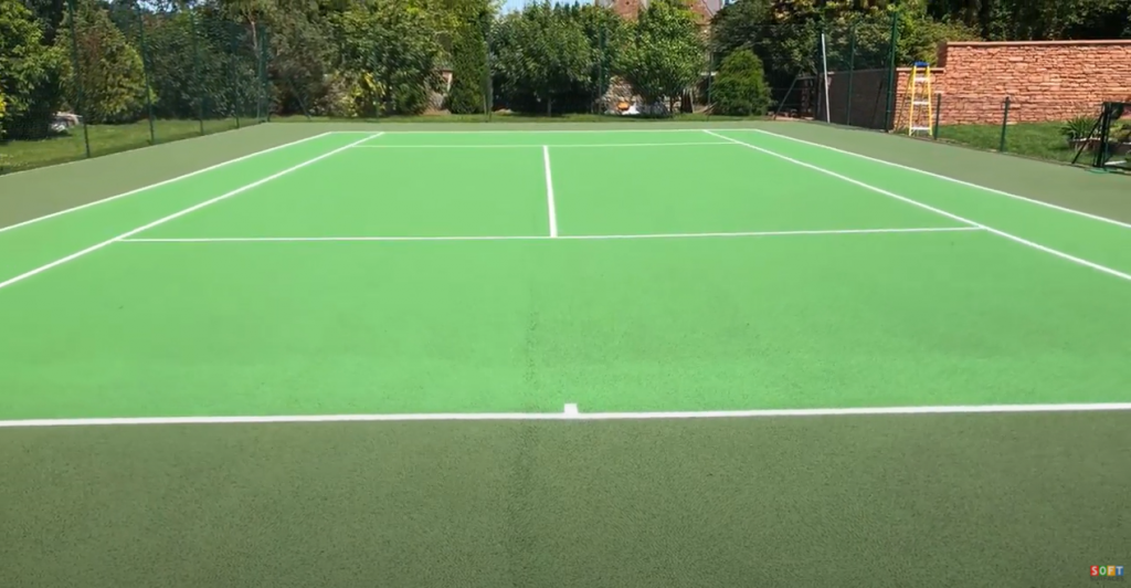 Cleaning and Painting of a Tennis Surface in Manchester