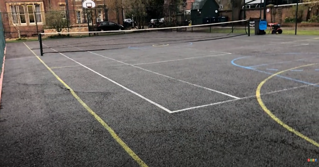MUGA Sports Court Cleaning and Painting at a school in Oxfordshire