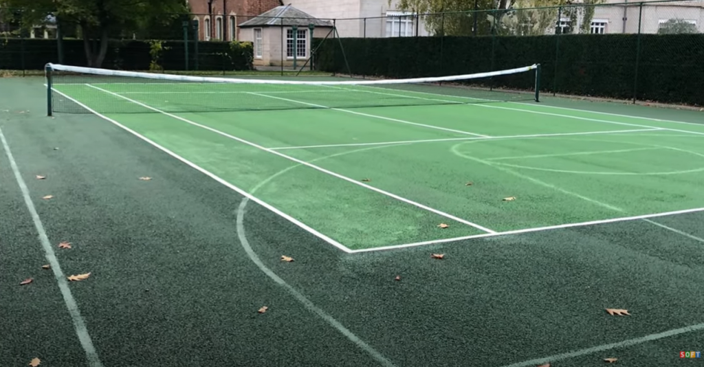 Residential Tennis Court Clean & Paint in Coventry