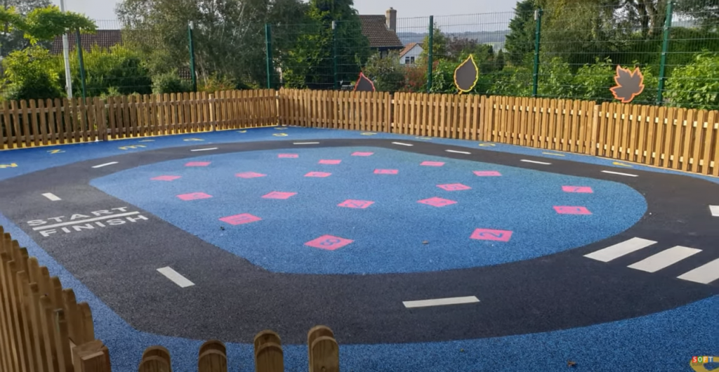 Colourful Playground Flooring Design in Cardiff, Wales