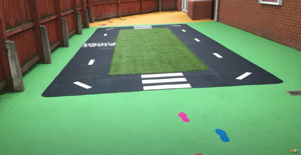 Educational Playground Surface Installation in Brighton, East Sussex