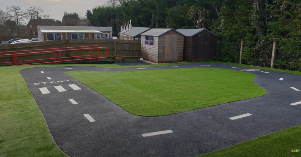 Artificial Grass and Wetpour Roadway Construction in Liverpool