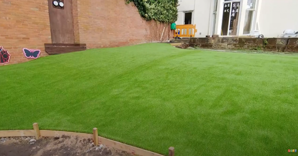 Artificial Grass and Wetpour Pathway Installation at a School in Birmingham