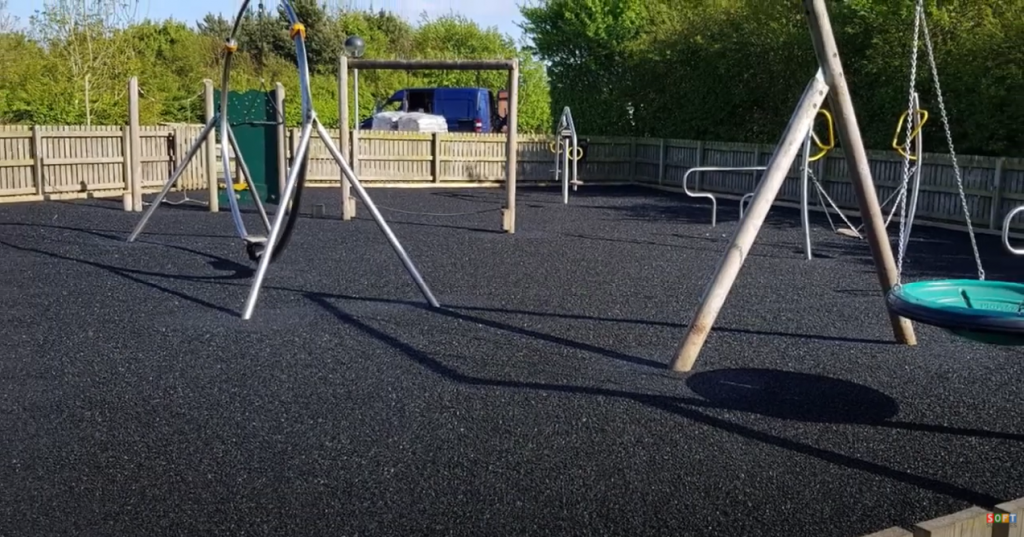 Large Wetpour Play Area Surface Installation in Stockport, Greater Manchester