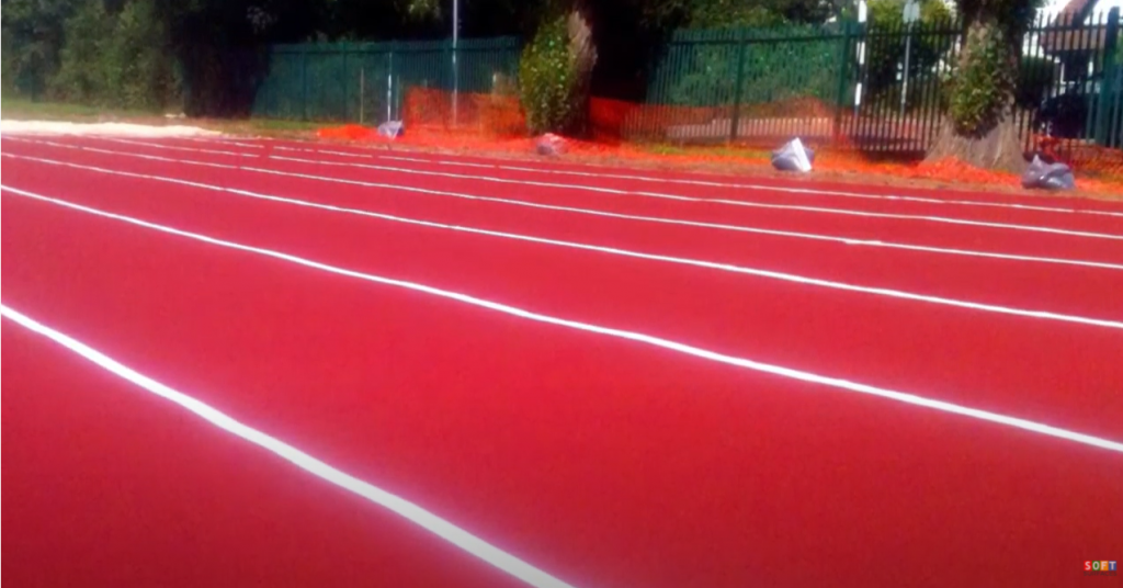Multi Lane Polymeric Long Jump Construction in St Albans