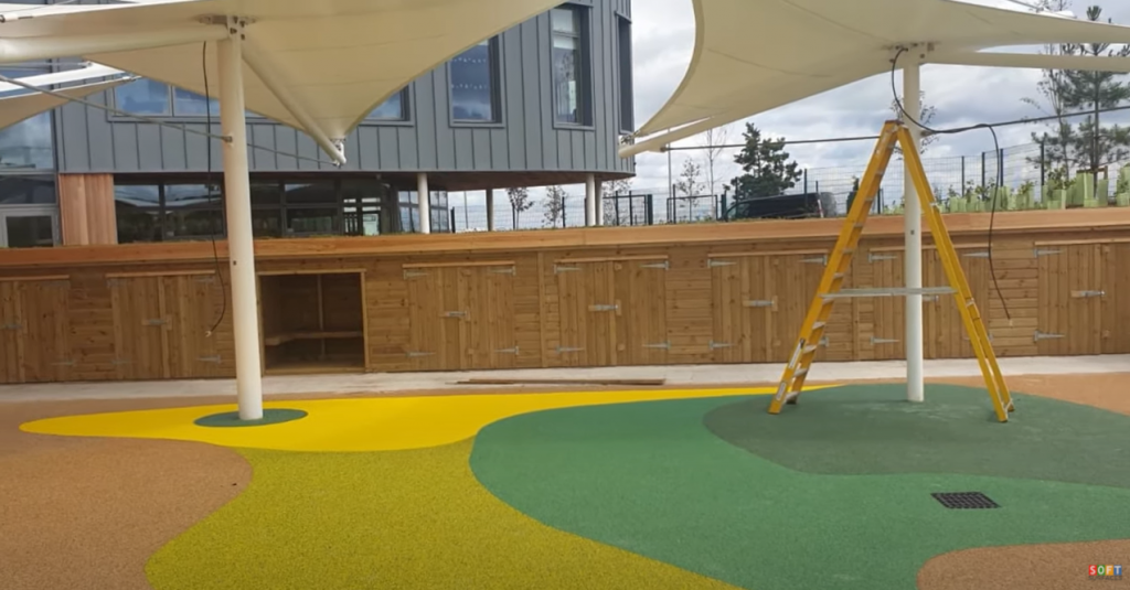 Outdoor Wetpour Surfacing Install in Leicester