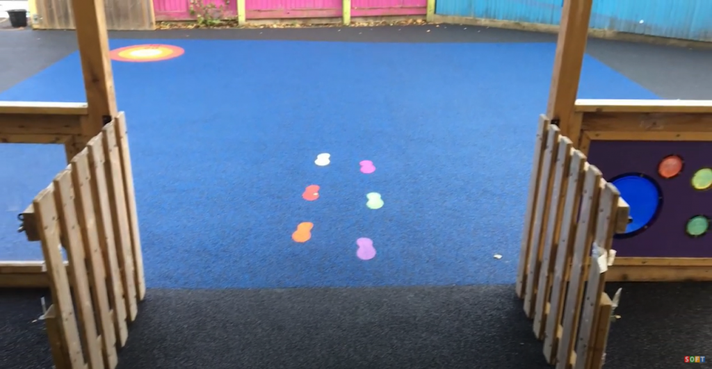 Playground Safety Surfacing with Graphics in Shropshire