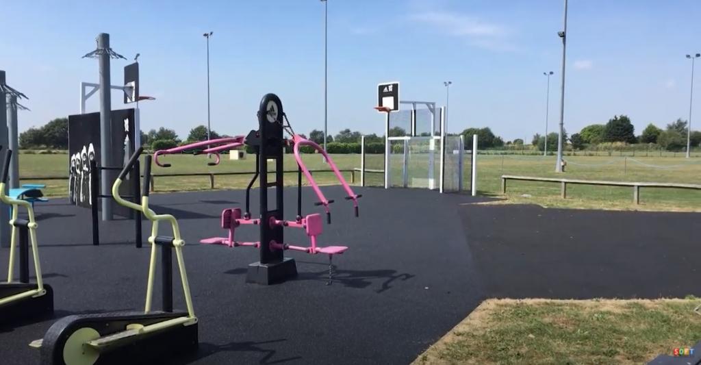 Black Wetpour Overlay at a Playground in Peterborough, Cambridgeshire