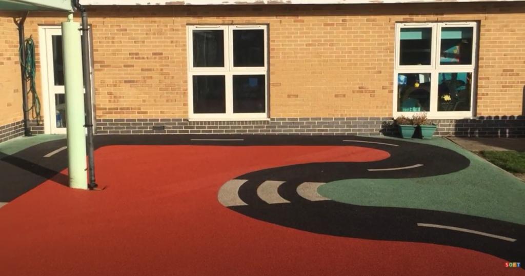 Nursery School Wetpour Surfacing Repair in Portsmouth
