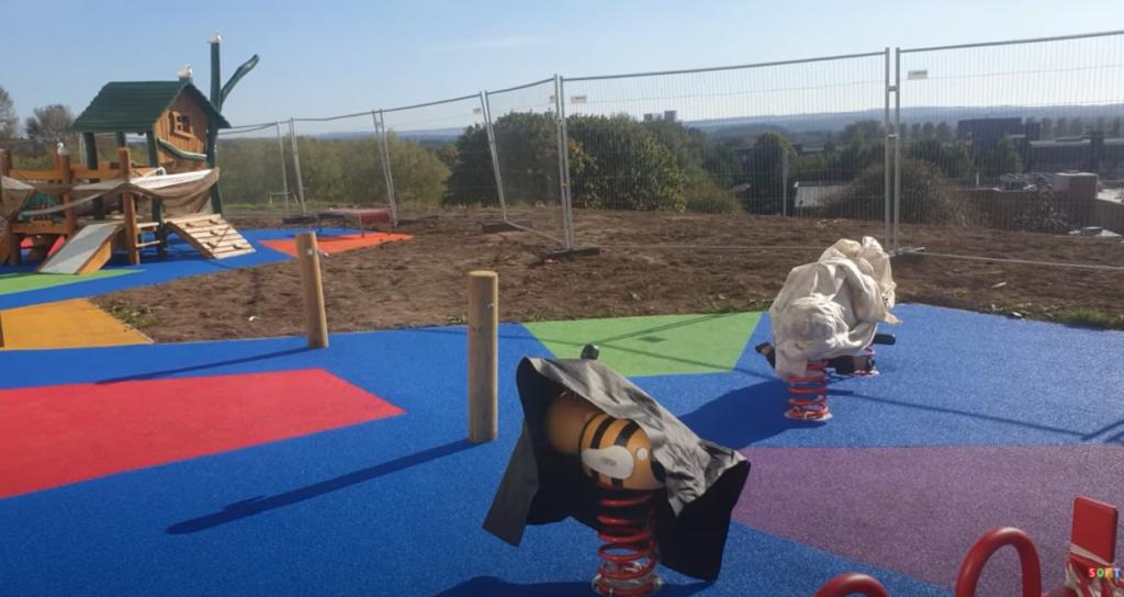 Coloured Wetpour Playground Design in Birmingham