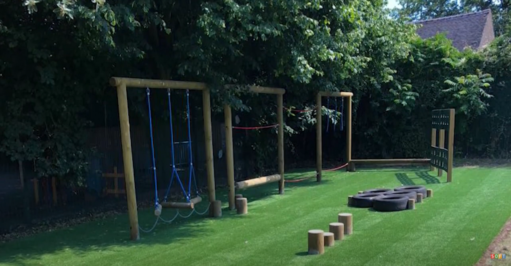Artificial Grass and Rubber Mulch Surfacing in Derby, Derbyshire
