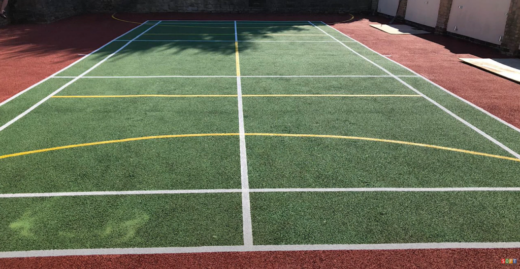 Sports Surfacing Clean and Paint in Southport
