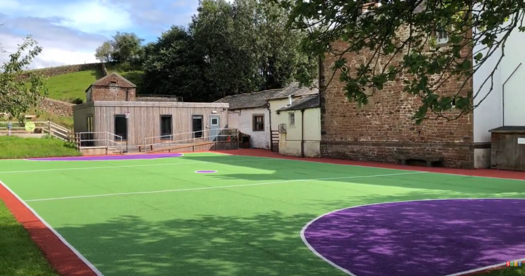 Sports court cleaning and painting in Sheffield, Yorkshire