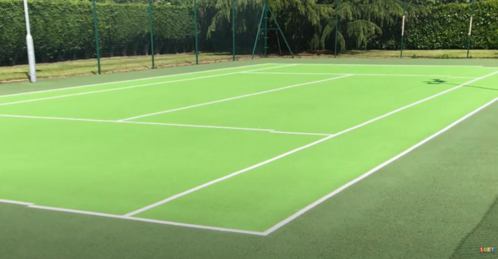 Tennis Court Cleaning and Repainting in Sheffield