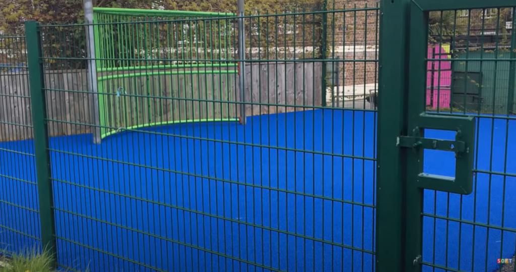 Wetpour Sports Court Flooring in Dartmouth, Devon