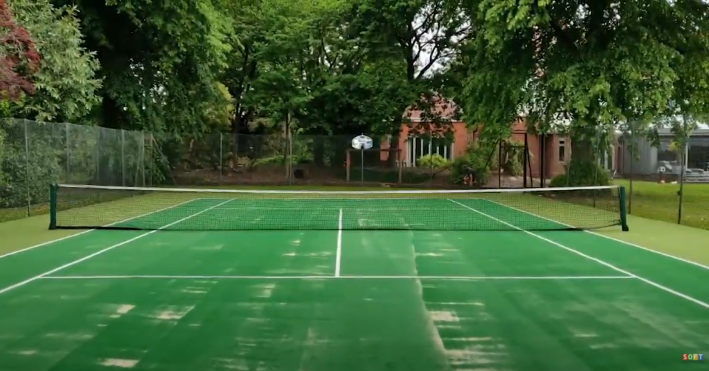 Synthetic Turf Tennis Court Installation in London