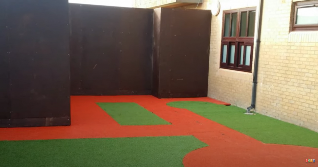 Wetpour & Artificial Grass Installation at Hillview Hospital, Wales