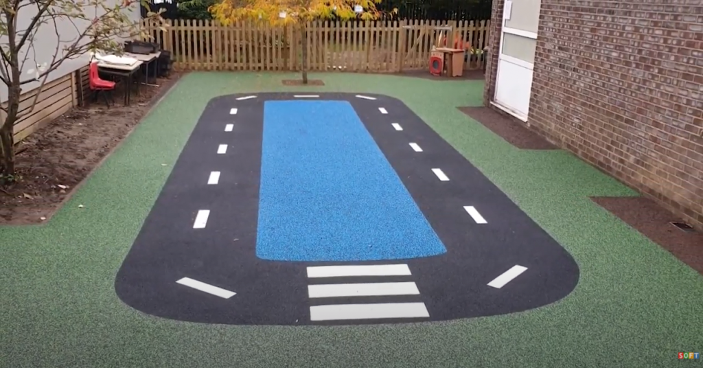 Wetpour and Rubber Mulch Playground Surfacing in Oxford