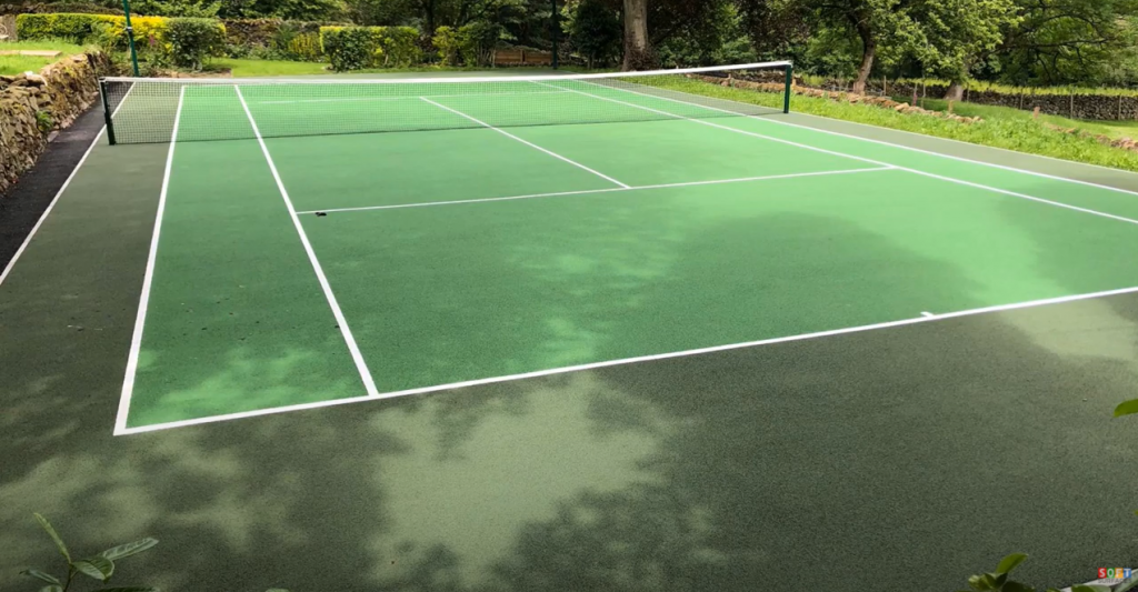 Sports Surface Colour Coating in High Peak